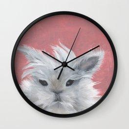 Fluffy rabbit Wall Clock