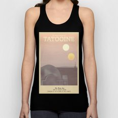 Retro Travel Poster Series - Star Wars - Tatooine Unisex Tank Top