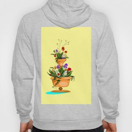 A Terra Cotta Planter with Many Flowers Hoody