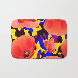 Poppie Camouflage Red Yellow - Living Hell Bath Mat
