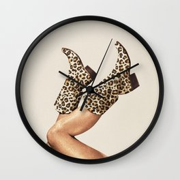 These Boots - Leopard Print Wall Clock