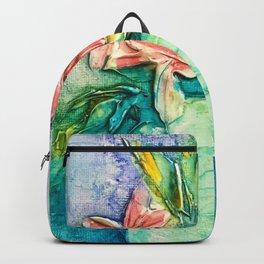 color flower vase Backpack