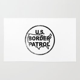 United States Border Control Stamp Rug