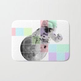 Man on The Moon Abstract Bath Mat