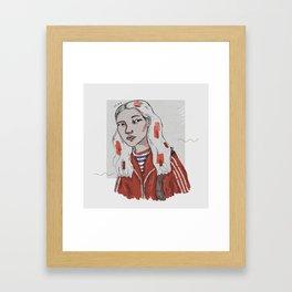 The Dig Dug Girl Framed Art Print