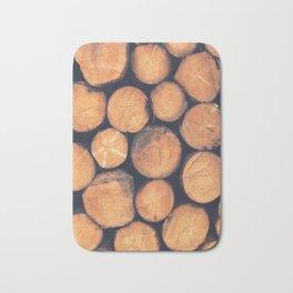 Wood Logs Bath Mat