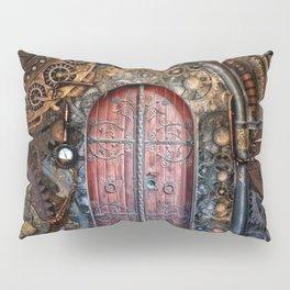 Steampunk Time Portal Pillow Sham