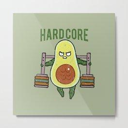 Hardcore Avocado Metal Print