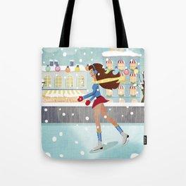 Ice Skating Girl Tote Bag