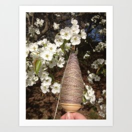 Pear and Plying Art Print