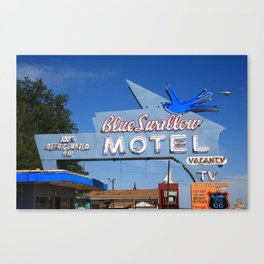 Route 66 - Blue Swallow Motel 2008 Canvas Print