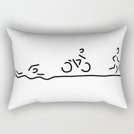 triathlon triathlet Rectangular Pillow