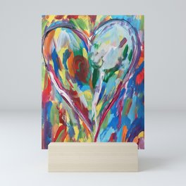 Heart Confetti 2 Mini Art Print