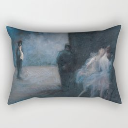 Backstage - Symphony in Blue Rectangular Pillow