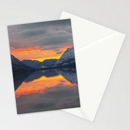 lake_sunset Stationery Cards