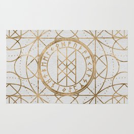 Web of Wyrd The Matrix of Fate - Pastel Gold Rug