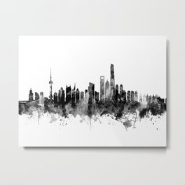 Shanghai China Skyline Metal Print