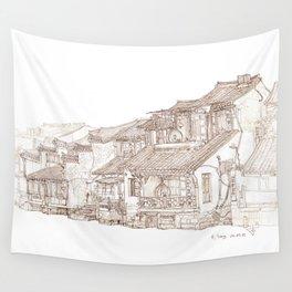 Xitag.China.Rivr Villae Wall Tapestry