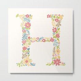 Alphabet H Metal Print