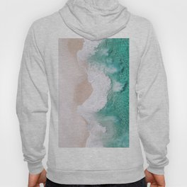 Waves spread out on the coast Hoody