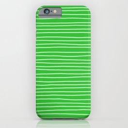 Grass Green Pinstripes iPhone Case