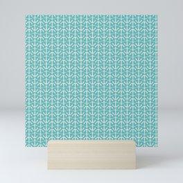 Beach Series Aqua - Maritime Nautical Small Anchor Pattern Mini Art Print