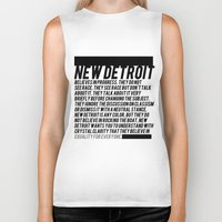 detroit Biker Tanks featuring New Detroit by ashurcollective