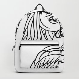 Homo Habilis Face Front Drawing Backpack