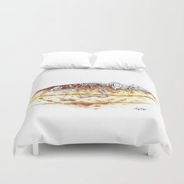 Sleuthing for Fossils Duvet Cover