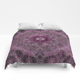 Vintage Merlot Lace Mandala Comforters