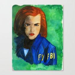 Agent Scully FBI Canvas Print