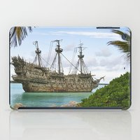 pirate ship iPad Cases featuring Pirate ship in the Caribbean by Daylight Magic: Images by Jeff