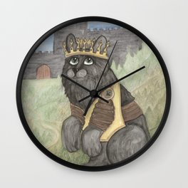 King Kitty Cat Wall Clock