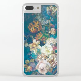 Vintage Spring Flowers Clear iPhone Case