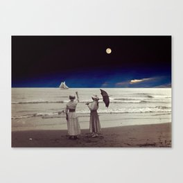 See you at Moonlight Beach! Canvas Print