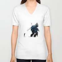metal gear V-neck T-shirts featuring Metal Gear Solid by Hisham Al Riyami