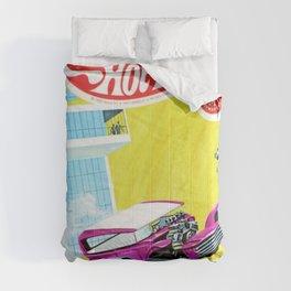Vintage Redline Era Hot Wheels Demon and Jack Rabbit Special Grand Prix Drag Racing Vintage Poster Comforters
