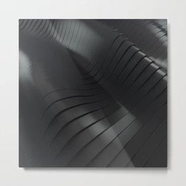 Black waves Metal Print