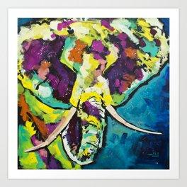 Elmer the Elephant Art Print