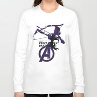 clint barton Long Sleeve T-shirts featuring Clint by Mad42Sam