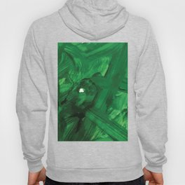 Green Acrylic Paint on Paper Hoody