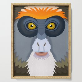 De Brazza's Monkey Serving Tray