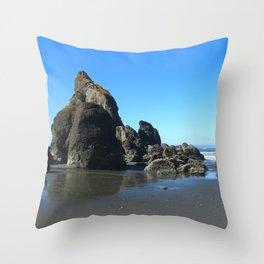 Sea Stacks Of Ruby Beach Throw Pillow
