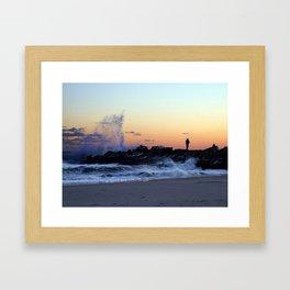 Tidal Splash Framed Art Print