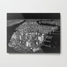 New York City in BW Metal Print