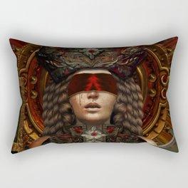 Ad maiorem Dei gloriam (A.M.D.G.) Rectangular Pillow