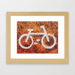 Bicycle sign Framed Art Print
