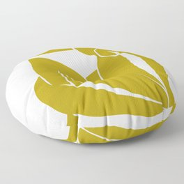 Matisse Cut Out Figure #2 Mustard Yellow Floor Pillow