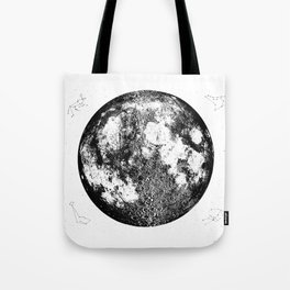 Negative Full Moon Print, by Christy Nyboer Tote Bag