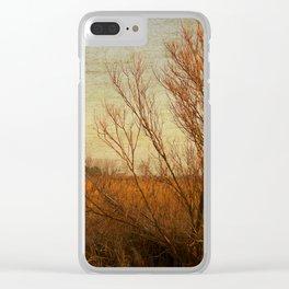 Orange winter Clear iPhone Case